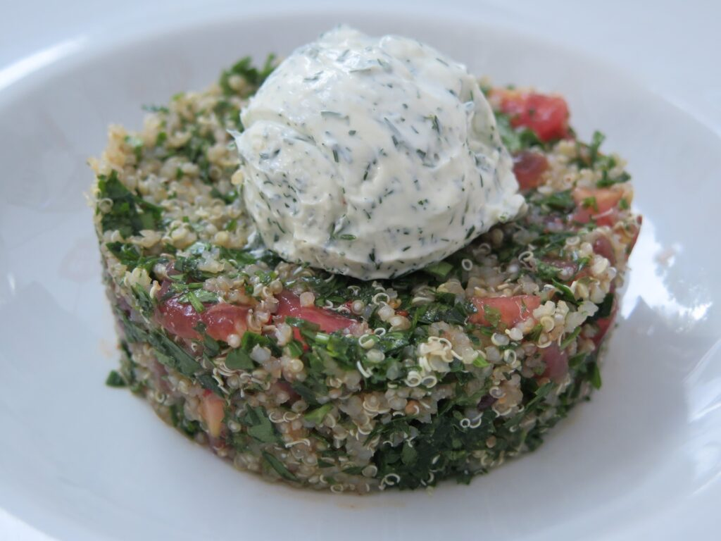 vegan cottage cheese serving example